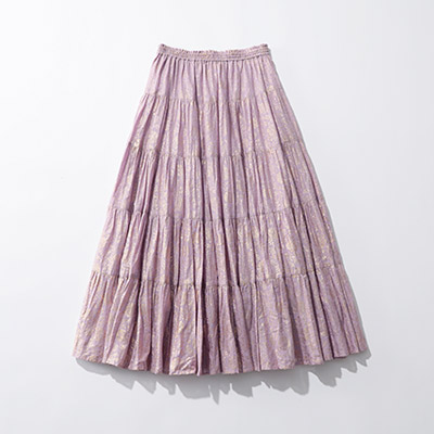 ne Quittez pas GOLD FLOWER PRINT SKIRT¥18,000+税