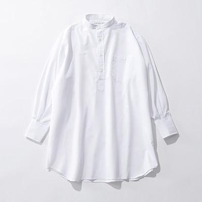INDIVIDUALIZED SHIRTS 【別注】バンドカラーオーバーシャツ