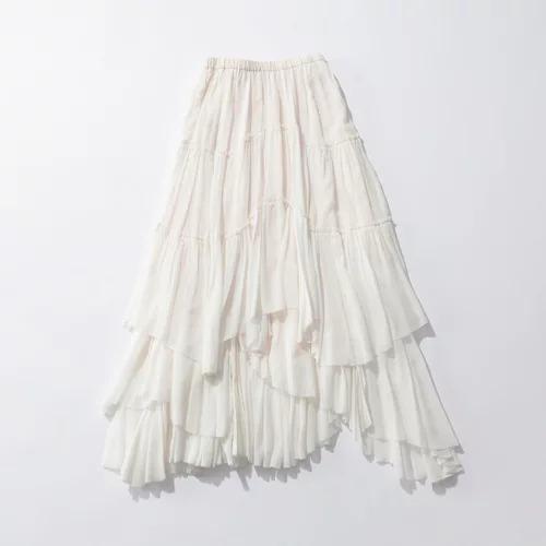 CASA FLINEコットンティアードスカート¥33,000+税
