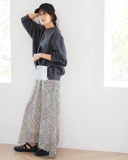suadeo/レオパード柄ロングスカート/¥20,900