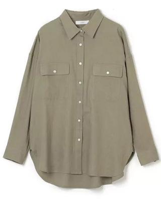 suadeo/【洗える】コットンリネンBIGワークシャツ/¥16,500