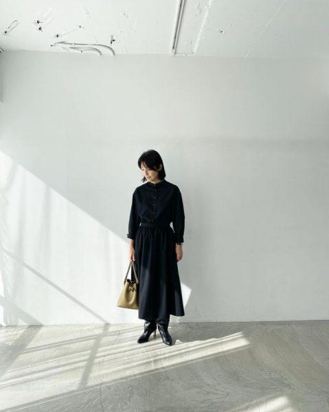 12closet【石上美津江さんコラボ】【洗える】バンドカラーワンピース¥20,900(税込)