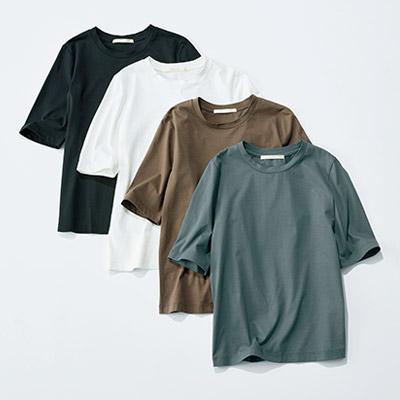 E by eclat 大人5分袖Tシャツ