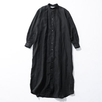 INDIVIDUALIZED SHIRTS 【HAPPYPLUSSTORE限定販売】リネンロングシャツワンピース