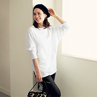 ドルマンスリーブ長袖Tシャツ/12closet