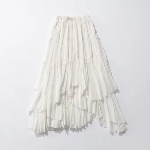 CASA FLINEコットンティアードスカート¥36,300(税込)