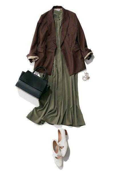 day 07:マニッシュなジャケットとレーススカートでつくる甘辛ミックススタイル