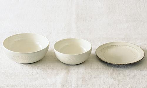 「入れ子鉢とパン皿」の3つセット 02/小石川ポタリー