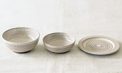「入れ子鉢とパン皿」の3つセット 03/小石川ポタリー