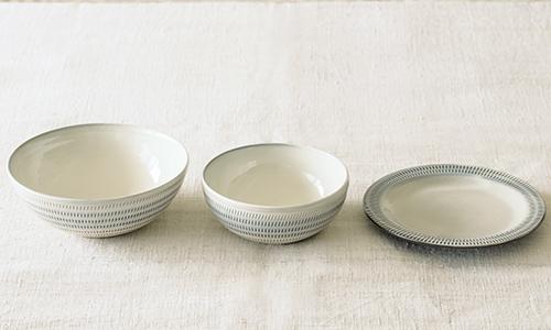 「入れ子鉢とパン皿」の3つセット 04/小石川ポタリー