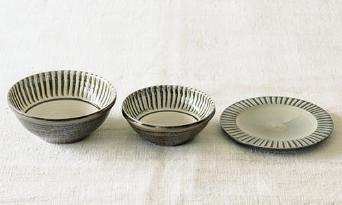 「入れ子鉢とパン皿」の3つセット 05/小石川ポタリー