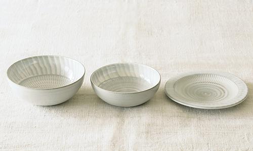 「入れ子鉢とパン皿」の3つセット 09/小石川ポタリー