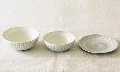 「入れ子鉢とパン皿」の3つセット 10/小石川ポタリー