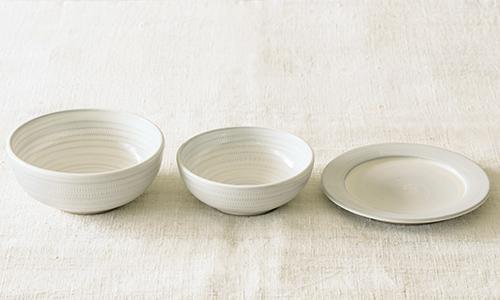 「入れ子鉢とパン皿」の3つセット 13/小石川ポタリー