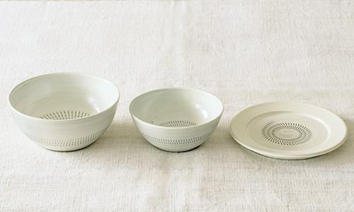 「入れ子鉢とパン皿」の3つセット 14/小石川ポタリー
