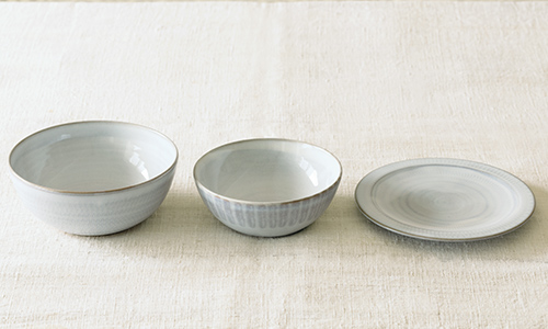 「入れ子鉢とパン皿」の3つセット 15/小石川ポタリー