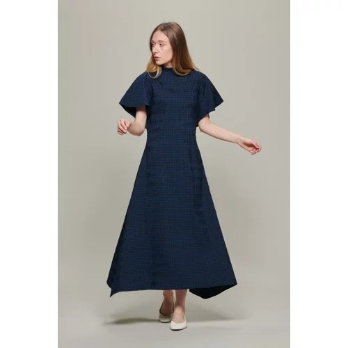 STUDIO NICHOLSONPONTI CRINKLE COTTON CHECK PLEATED DRESS¥82,500(税込)