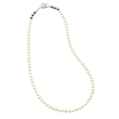 Pearl Beads T-bar Necklace/Sympathy of soul style