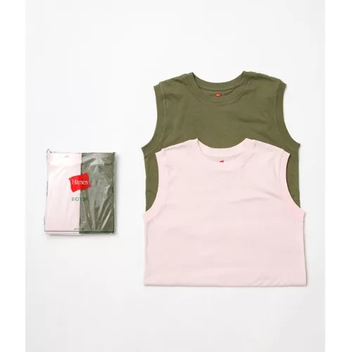 ADAM ET ROPE'【Hanes for BIOTOP】Sleeveless T-Shirts/color¥5,280 パック入