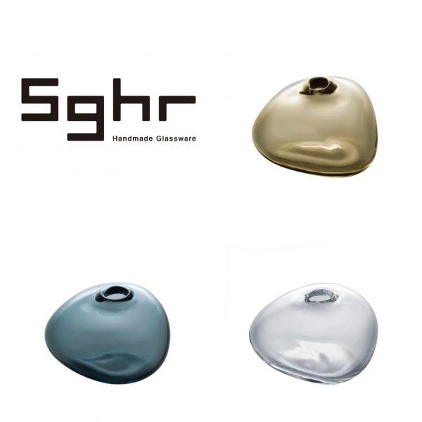 Sghr スガハラ/ミニベース:一輪挿し 三角形/クリアー・インディゴブルー・タン/¥1,650(税込)