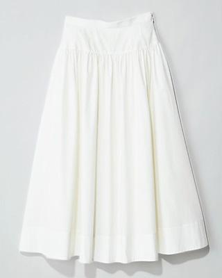 12closet/【洗える】切替えコットン ギャザースカート/¥14,850