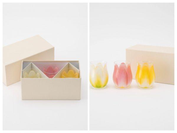 Floyd (フロイド)/チューリップ グラス ミニ3個セット Tulip Glass Mini 3pcs set/¥5,940(税込)/箱入り写真