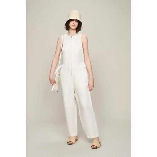 beautiful peopleacetate linen cloth salopetto pants¥69,300(税込)