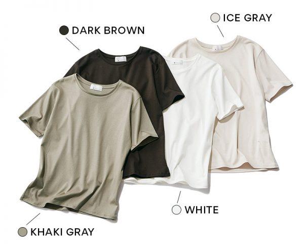 M7days 【スタイリスト松村純子さんコラボ】Tシャツ KHAKI GRAY / DARK BROWN / WHITE / ICE GRAY