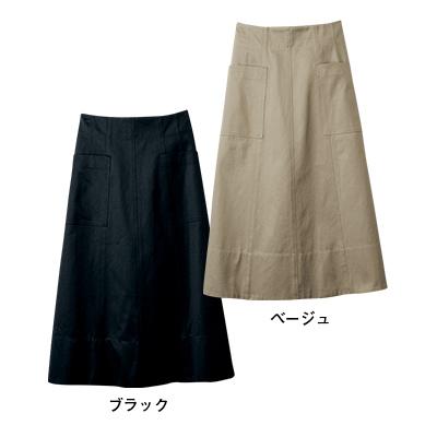 Aラインチノスカート ベージュ、ブラック/12closet