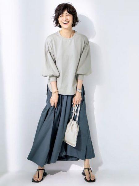 富岡佳子×Lâchement パフスリーブTシャツ ¥16,500(税込)