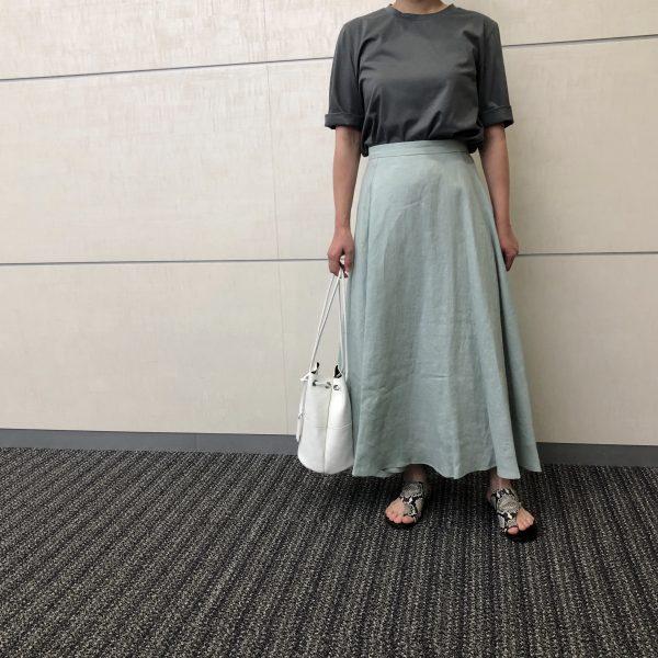 E by eclatリネンマキシスカート/ミント/36サイズ/¥18,700