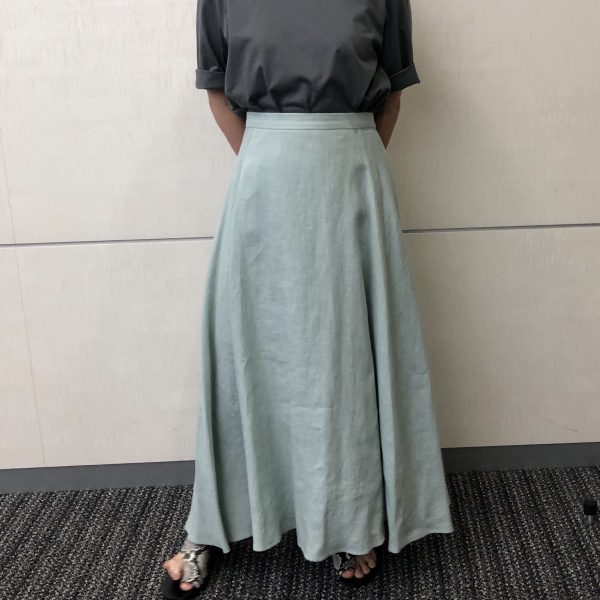 E by eclatリネンマキシスカート/ミント/38サイズ/¥18,700