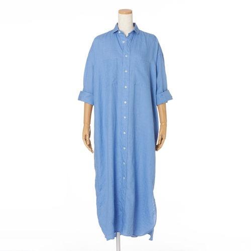 TICCA×eclatダブルポケットロングシャツ¥31,900(税込)ブルー