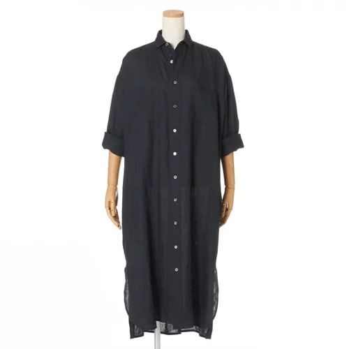 TICCA×eclatダブルポケットロングシャツ¥31,900(税込)ブラック