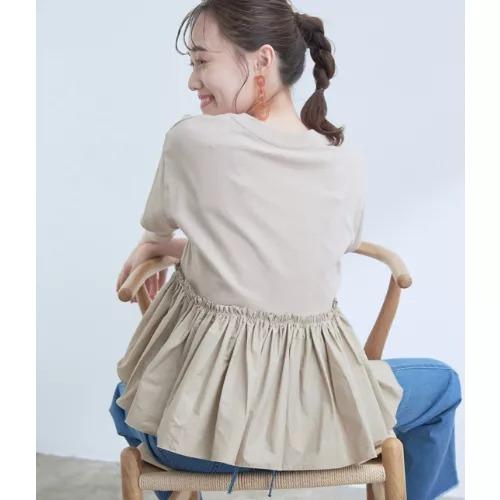 ViS/【選べる着丈】裾フハク切り替えドッキングカットソー/¥3,278