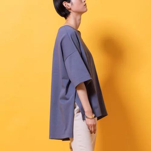 lautreamont BLEUBLANCサイドスリットジャージTシャツ¥8,580 サイドスリット