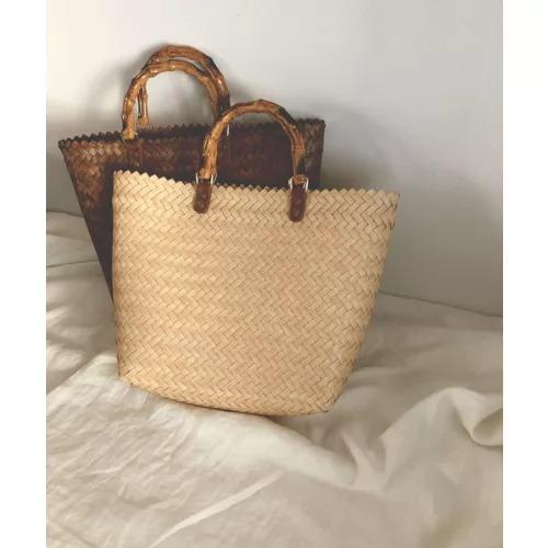 marjourBAMBOO HANDLE BASKET BAG¥6,600