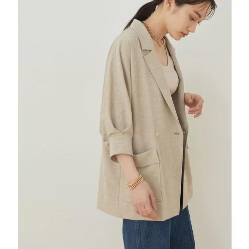 ADAM ET ROPE'/ドルマンシャツジャケット/¥19,800