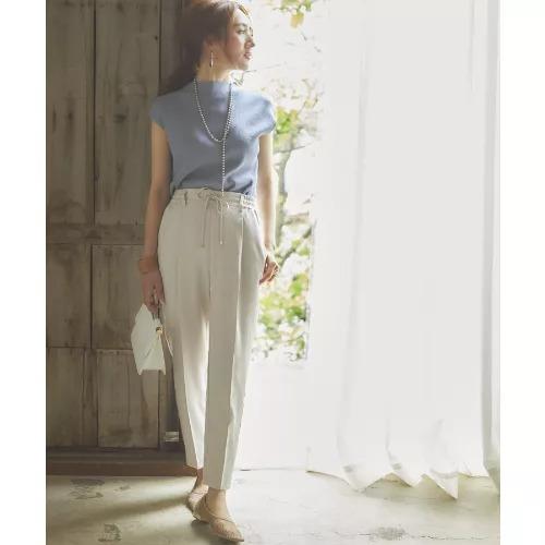 ViS/【星玲奈さんコラボ】【接触冷感+マシンウォッシャブル】リネンライクイージーパンツ/¥4,378