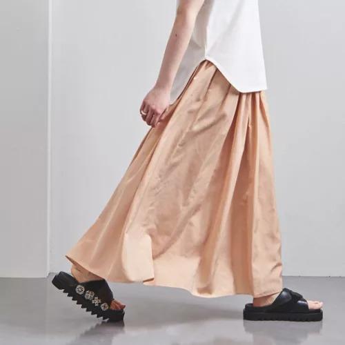 UNITED ARROWSUWFM タフタ ギャザー スカート 2¥18,700