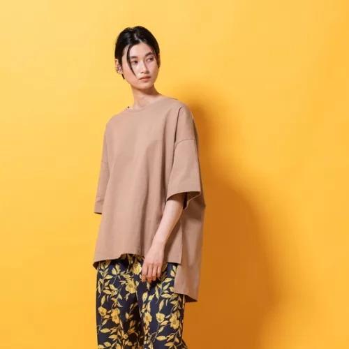lautreamont BLEUBLANCサイドスリットジャージTシャツ¥8,580