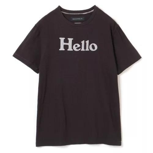 MADISONBLUE HELLO CREW NECK TEE BLACK NAVY (HAPPY PLUS STORE別注) ¥27,500