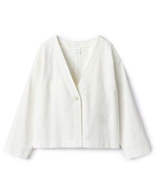 12closet/【洗える】リネンコンパクトジャケット/¥13,200