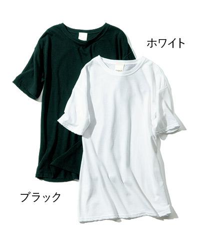 森 慶子×raspail(モリケイコ×ラスパイユ) コットンリネンTシャツ