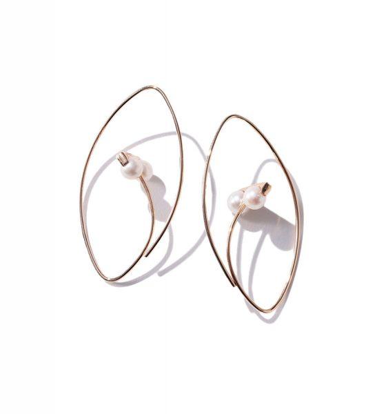 Hirotaka Beluga Pearl Earring