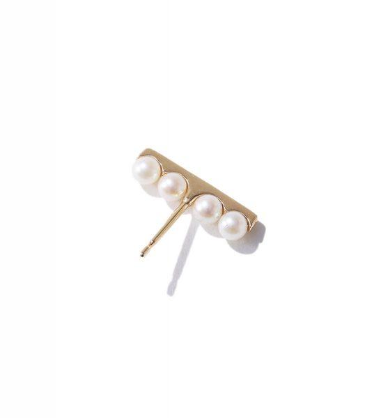 Hirotaka Beluga Pearl Floating Earring