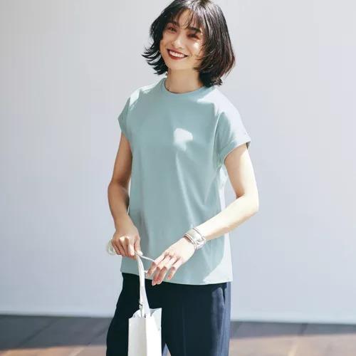 12closet 【洗える】UV&接触冷感フレンチスリーブT