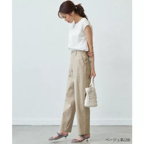 ROPE' PICNIC/【WEB限定36サイズ/ブラック】バックサテンベイカーパンツ/¥4,400 ベージュ
