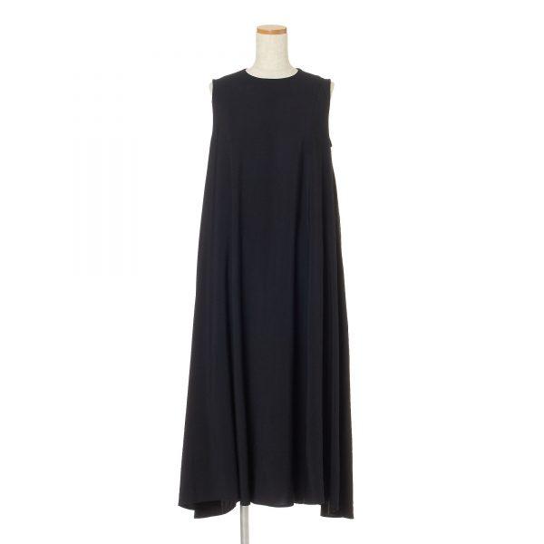 12closet【洗える】裾ゆれマキシワンピース¥18,480物画ブラック