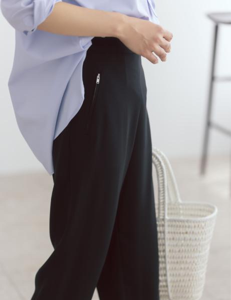12closet 【洗える】裾リブとろみパンツ ¥13200  大橋さんサイドカット